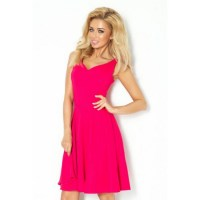 Krásne ružové dámske spoločenské šaty