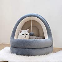 Domček pre mačky s kožušinkou